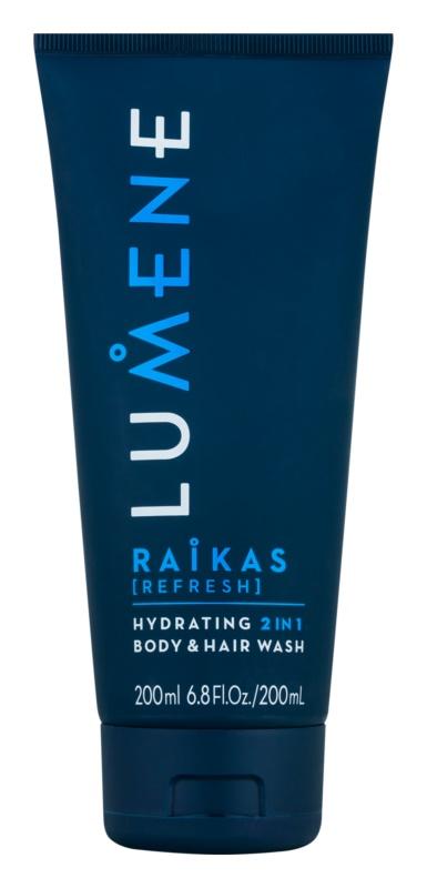 Lumene Men Raikas [Refresh] vlažilni šampon in gel za umivanje  2 v 1